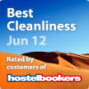 Clink261 - Best Cleanliness Award, June 2012